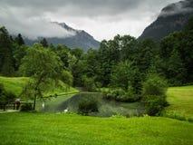 Das Gebiet des Ammergebirge-Naturreservats Lizenzfreies Stockfoto