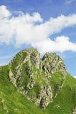 Das Gebirgsherz. Landschaftshintergrund. stockbild