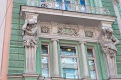 Das Gebäude von ehemaligem Volga-Kama Commercial Bank Stockbild