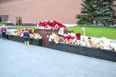 Das Gedächtnis von denen getötet in St Petersburg Lizenzfreie Stockfotos