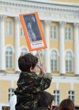 Das Gedächtnis von Kriegsveteranen - der Sieger in Victory Day Stockbilder