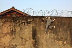 Das Gefängnis und das Entweichen Stockbild