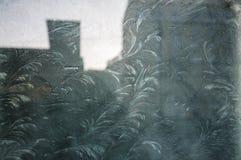Das gefrorene Fenster Stockbilder