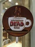 Das gehende tote Café Stockbild