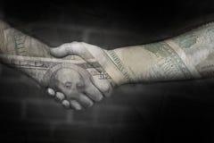 Das Geld-Abkommen Lizenzfreies Stockbild