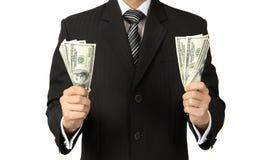 Das Geld in der Hand Stockbild