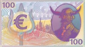 Das Geld-Euro-Mattkunstfarben des Teufels Stockfoto