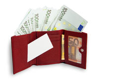 Das Geld ist in der Geldbörse Stockbild