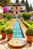 Das Generalife Alhambra de Granadas, Spanien Lizenzfreies Stockfoto