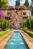 Das Generalife Alhambra de Granadas, Spanien Stockbild