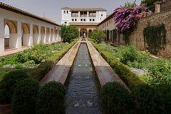 Das GeneralifeLeisure-Landhaus der Sultane, Granada Stockbild