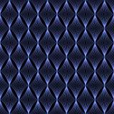 Das geometrische Wellenmuster Nahtloser vektorhintergrund Lizenzfreie Stockfotografie