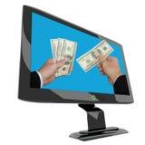 Das Geschäft, das auf dem Internet behandelt lizenzfreies stockbild