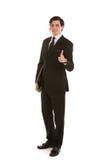 Das Geschäftsmanngeben Daumen up Geste Stockbilder