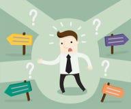 Das Geschäftsmannleben ist von den großen Entscheidungen voll stock abbildung