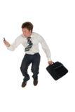 Das Geschäftsmannspringen Lizenzfreie Stockfotografie
