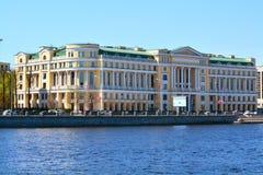 Das Geschäftszentrum Lukoil auf Aptekarskaya-Damm in St Petersburg, Russland Lizenzfreies Stockbild