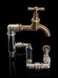 Das geschlossene System einer Wasserleitung Stockbilder