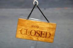 Das geschlossene Zeichen für den Speicher Stockbilder