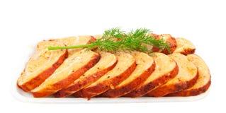 Das geschmackvolle Fett des gesalzenen Schweinefleisch lizenzfreie stockfotos