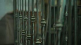 Das geschmiedete Gitter, Zaun stock video