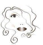 Das Gesicht der Vektorfrau Stockbilder