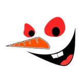 Das Gesicht des Schneemannes Lizenzfreie Stockbilder