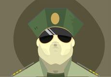Das Gesicht des Soldaten lizenzfreie abbildung