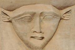 Das Gesicht von Hathor Lizenzfreies Stockbild