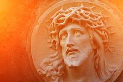 Das Gesicht von Jesus Christ in Dornenkrone als Symbol von suf lizenzfreie stockfotos