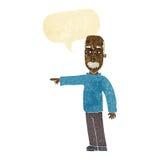 das Gestikulieren des alten Mannes der Karikatur gehen hinaus! mit Spracheblase Lizenzfreie Stockbilder