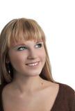 Das getrennte Portrait des jungen Mädchens Stockbilder