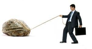 Das Gewicht der harten Arbeit Lizenzfreies Stockfoto