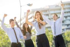 Das gewinnende Geschäfts-Team Lizenzfreies Stockfoto