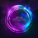 Das glänzende Neon Lizenzfreies Stockfoto