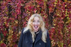 Das Glück von jungem blondem Lizenzfreies Stockbild