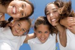 Das glückliche Lächeln childen Stockfoto