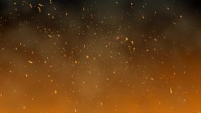 Das Glühen vom Feuer stock video footage