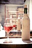 Das Glas des Weins Stockfoto