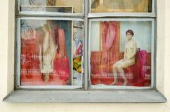 Das Glasfenster des Hauses Lizenzfreie Stockbilder