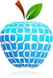 Das globale Dorf - abstrakter Apfel der Technologie Lizenzfreie Stockfotos