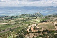 Das Golanhöhen und das Galiläa - das Israel lizenzfreie stockfotos