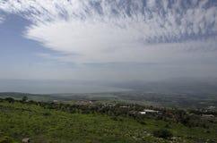 Das Golanhöhen und Meer Galiläa lizenzfreies stockbild