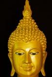 Das goldene Gesicht von Buddha. Stockfotos