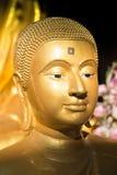 Das goldene Gesicht von Buddha Stockbild