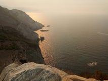 Das goldene Meer Stockbilder