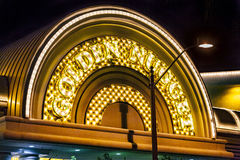Das goldene Nuggethotel und -kasino in im Stadtzentrum gelegenem Las Vegas Stockfotos