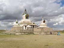 Das goldene Stupa stockfotos