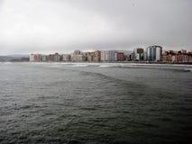 Das Golf von Biscaya, Gijon, Spanien Stockfotos