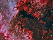 Das Golf von Mexiko im Nordamerika-Nebelfleck NGC 7000 Stockfotos